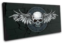 Gothic Skull Wings Illustration - 13-0072(00B)-SG21-LO